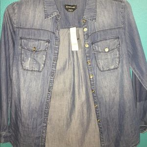 Brand New, Tags still on Bebe Button Up Shirt
